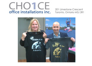 Sam and Angela from CHO1CE Office Installations Inc.